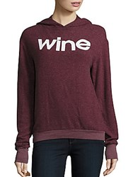Wildfox Couture Gypsy Wine Hoodie Burgundy