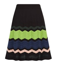 M Missoni Zig Zag Knit Skater Skirt Female Multi