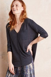 Bordeaux Amalie Linen Top Navy