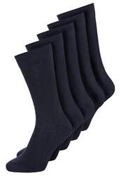 Zalando Essentials 5 Pack Socks Marine Dark Blue
