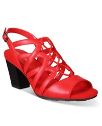 Easy Street Shoes Admire Sandals Women's Red