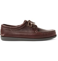 Quoddy Leather Derby Shoes Brown