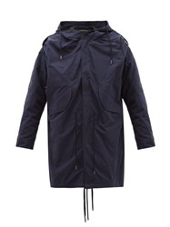 Y Project Hooded Cotton Parka Navy