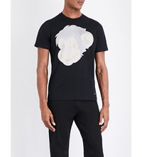 Paul Smith Ps By Monkey Print Cotton Jersey T Shirt Black