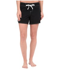 Tommy Bahama Boardshorts 5 Solid Boardshorts Cover Up Black Women's Swimwear