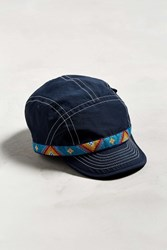 Chums Woven Band 5 Panel Hat Navy