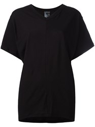 Ann Demeulemeester Open Back T Shirt Black