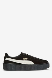 Nasty Gal X Rihanna Rebel Suede Creeper Sneaker Black