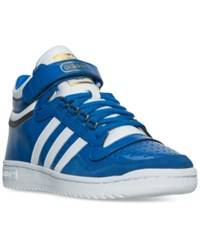 Adidas Originals Men's Concord Ii Mid Casual Sneakers From Finish Line Blue White Gold Metallic