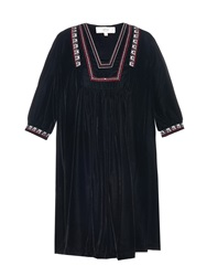 Vanessa Bruno Divine Embroidered Velvet Dress