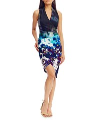 Nicole Miller Sleeveless Floral Printed Dress Multi Color
