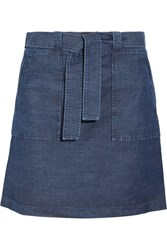 A.P.C. Atelier De Production Et De Creation Nairobi Denim Mini Skirt Mid Denim