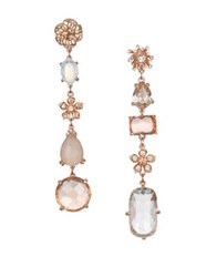 Badgley Mischka Crystal Linear Earrings Gold
