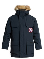 Canada Goose Expedition Fur Trimmed Down Parka Blue