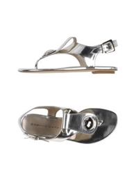 Martin Clay Thong Sandals Silver