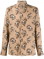 Barba Flower Posey Printed Linen Shirt 60