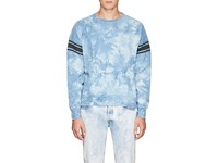 Remi Relief Tie Dyed Cotton Terry Sweatshirt Blue