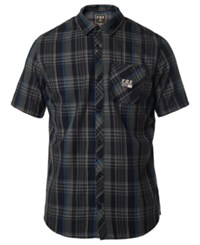 Fox Rowher Plaid Poplin Work Shirt Black
