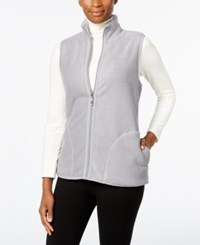 Karen Scott Reversible Sherpa Vest Only At Macy's Smoke Grey Heather