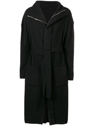 Andrea Ya'aqov Reversible Belted Coat Black