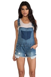 Blank Nyc Overall Shorts Blue