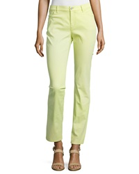 Lafayette 148 New York Curvy Slim Leg Denim Pants Snow Pea