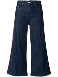 Red Valentino Flared Cropped Jeans Cotton Polyester Blue