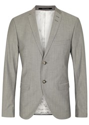 Tiger Of Sweden Jil Grey Wool And Cotton Blend Jacket
