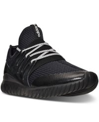 Adidas Men's Tubular Radial Casual Sneakers From Finish Line Cor Black Vintage White