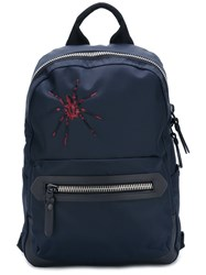 Lanvin Embroidered Spider Backpack Blue