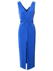 True Decadence Cut Out Midi Dress Royal Blue