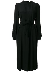 Odeeh Ruffle Detail Long Dress Black
