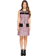 Sonia Rykiel Tweed Dress Lips Klein White Women's Dress Pink