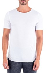 Unsimply Stitched Super Soft Relaxed Neck Short Sleeve Lounge Tee White
