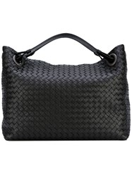 Bottega Veneta Woven Tote Bag Calf Leather Black