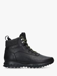 Cole Haan Grand Explore Lace Up Hiker Boots Black Leather
