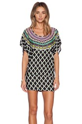 Trina Turk Kon Tiki Tunic Black And White