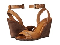 Frye Patricia Wedge 2 Piece Camel Soft Vintage Leather Women's Wedge Shoes Tan