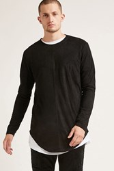 Forever 21 Project X Paris Faux Suede Tee Black