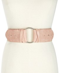 Inc International Concepts I.N.C. O Ring Stretch Belt Blush Silver