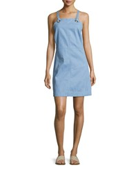 Rag And Bone Suffolk Denim Apron Dress Pale Blue Light Blue