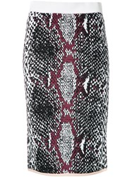 Theatre Products Snakeskin Print Fitted Skirt Black