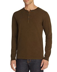 Jean Shop Henry Long Sleeve Henley Tee Olive