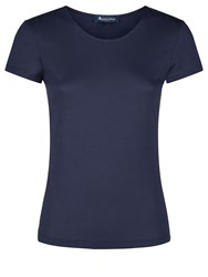 Aquascutum London Annie Scoop Neck Tee Navy