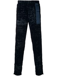 Cottweiler Patterned Track Trousers Blue