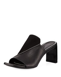 Rag And Bone Myla Suede Leather Studded Mules Black