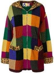 Jc De Castelbajac Vintage Knitted Patch Coat Multicolour