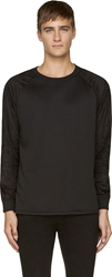 A.P.C. Black Viscose And Velveteen Baseball Shirt