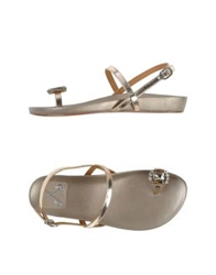 Bryan Blake Thong Sandals Platinum