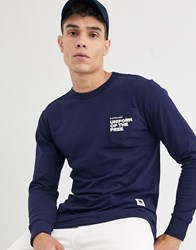 G Star Graphic Long Sleeve Top Blue